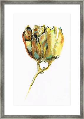 Framed Print featuring the painting Fritillaria by Frances Marino