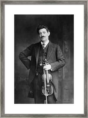 Fritz Kreisler 1875-1962 Austrian Framed Print by Everett