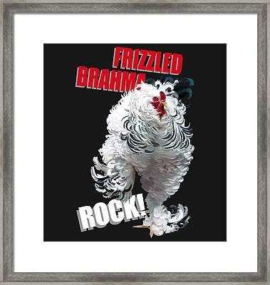 Frizzled Brahma T-shirt Print Framed Print