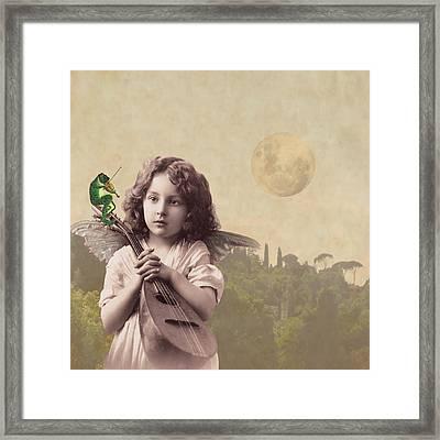 Frog Chorus Framed Print by Olga Snell