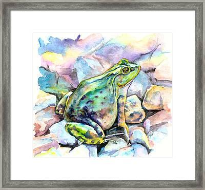 Frog Framed Print by Christy Freeman Stark