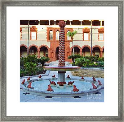 Frog Fountain Framed Print