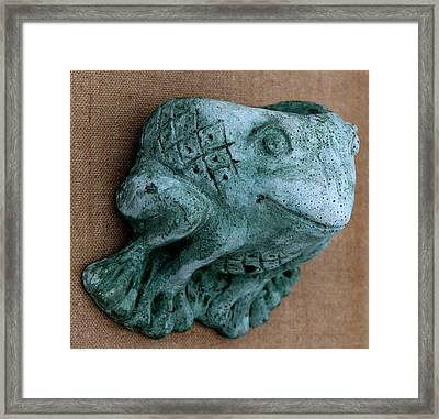 Frog Framed Print by Katia Weyher