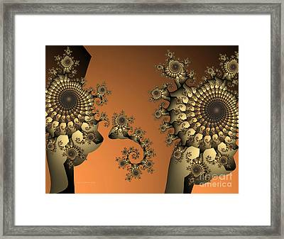 Framed Print featuring the digital art Frog King by Karin Kuhlmann
