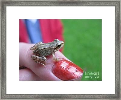 Framed Print featuring the photograph Frog The Prince by Ausra Huntington nee Paulauskaite