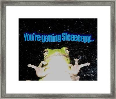Frog  You're Getting Sleeeeeeepy Framed Print