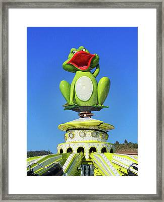 Froggy Framed Print by Don Pedro De Gracia