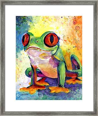 Froggy Mcfrogerson Framed Print