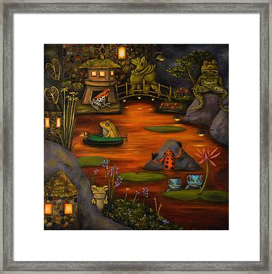 Frogland 2 Framed Print by Leah Saulnier The Painting Maniac