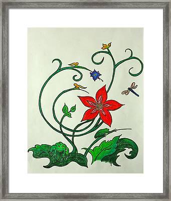 Frogn Flower Framed Print