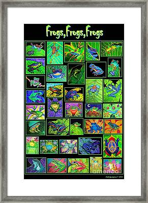 Frogs Poster Framed Print