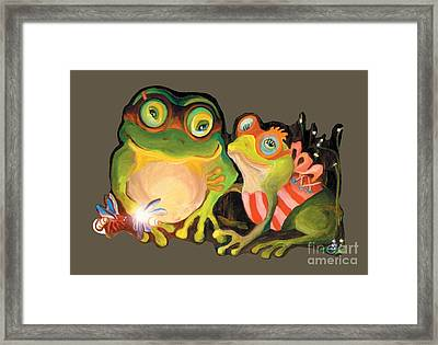 Frogs Transparent Background Framed Print