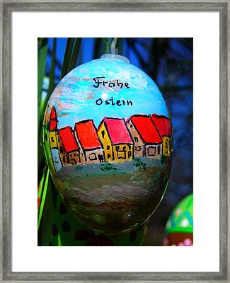 Frohe Ostern Framed Print