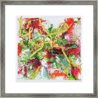 Frolic In The Field Of My Youth Framed Print by Donna Blackhall