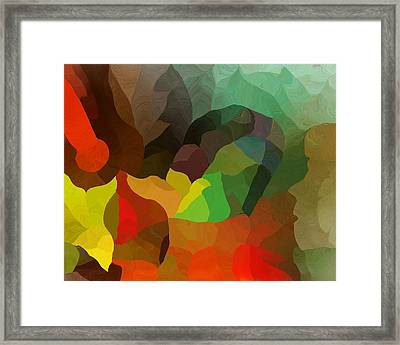 Frolic In The Woods Framed Print by David Lane