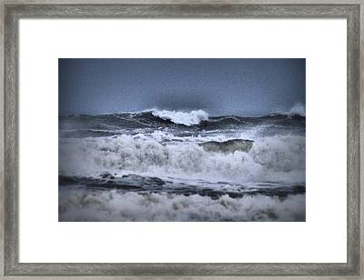 Framed Print featuring the photograph Frolicsome Waves by Jeff Swan
