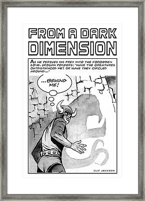 From A Dark Dimension Framed Print by Clif Jackson