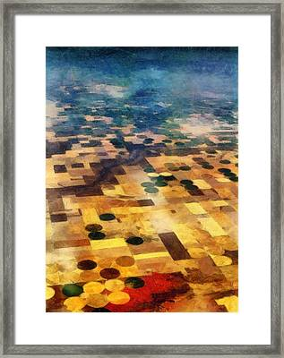 Framed Print featuring the digital art From Above by Michelle Calkins