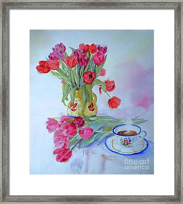 Framed Print featuring the painting From Amsterdam by Beatrice Cloake