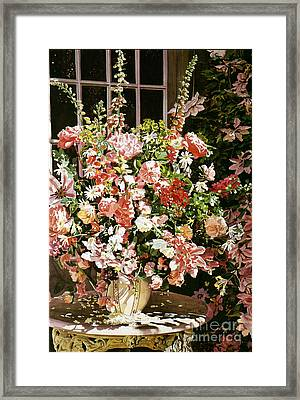 From An English Country Garden Framed Print by David Lloyd Glover