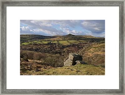 From Bench Tor To Sharp Tor Framed Print by Pete Hemington