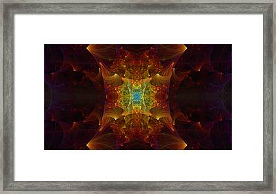 From Chaos Arisen Framed Print by Lea Wiggins