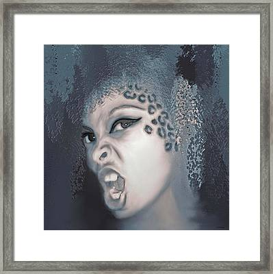 From Darkness Emerges Strength Framed Print by KaFra Art