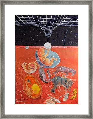 From Gestation To The Evolution Of Abstract Thinking Framed Print by Lazaro Hurtado