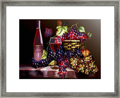 From Grapes To Wine Framed Print by Ron Chambers