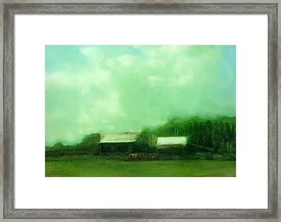 Framed Print featuring the painting From Ground To Sky by FeatherStone Studio Julie A Miller