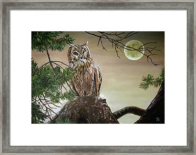 From His Throne Framed Print