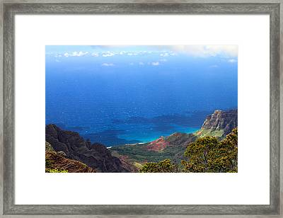 From Kalalau Valley To The Sky Framed Print