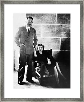 From Left, Adolf Hitler, Eva Braun Framed Print