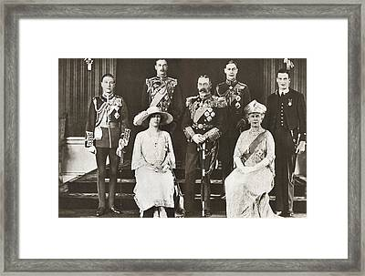 From Left To Right, The Prince Of Wales Framed Print by Vintage Design Pics