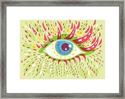 From Looking Psychedelic Eye Framed Print by Boriana Giormova