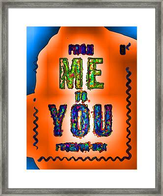 From Me To You  Framed Print by Lanjee Chee