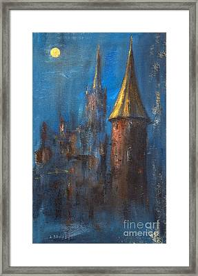Framed Print featuring the painting From Medieval Times by Arturas Slapsys