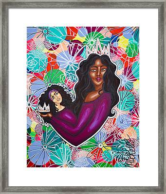 From Mom With Love Framed Print