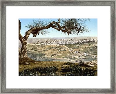 From Mount Scopus, Jerusalem, Holy Framed Print