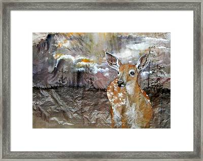 Framed Print featuring the painting From My Eyes I See by Debbi Saccomanno Chan