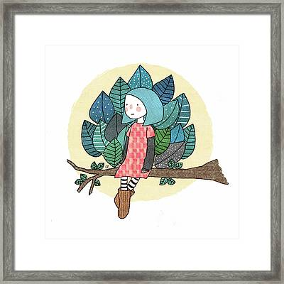 From My Throne Of Leaves, From My Bed Of Grass Framed Print by Carolina Parada