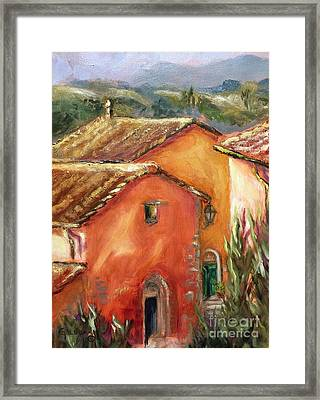 From My Villa Window Framed Print