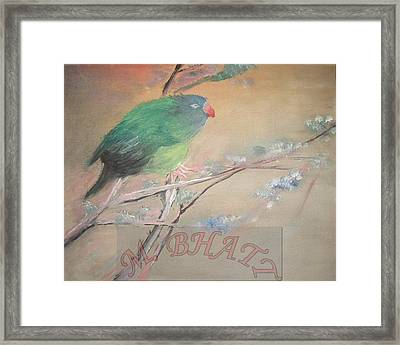 From Nest To Branch Framed Print by M Bhatt