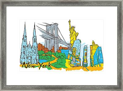 From Old To New York Framed Print by Stanley Mathis
