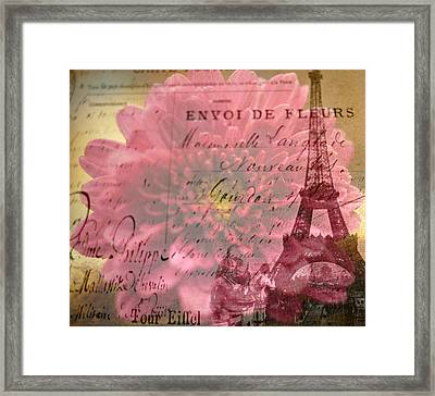 From Paris With Love Framed Print by Kathy Bucari