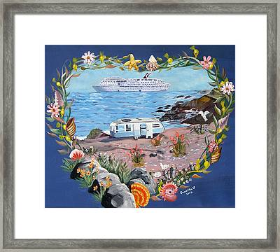 Framed Print featuring the painting From Rags To Riches by Quwatha Valentine