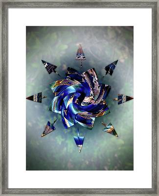 From Seeds Of Kaos Framed Print by Another Dimension Art