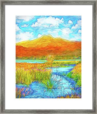 From Sky To Mountain To Stream - Boulder County Colorado Framed Print by Joel Bruce Wallach
