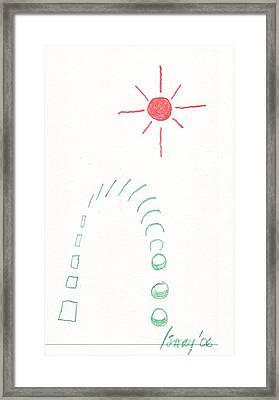 Framed Print featuring the drawing From Square To Sphere by Rod Ismay