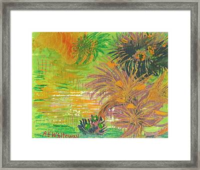 From Tahiti With Love Framed Print by Anne-Elizabeth Whiteway